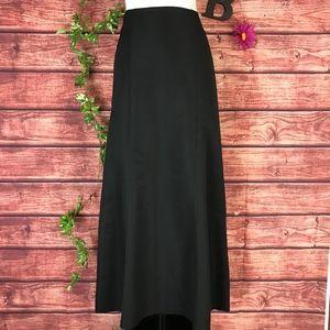 Ann Taylor Black Skirt 8 Long Maxi Mermaid Ruffle